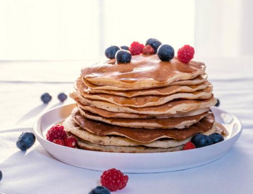 Pancakes mit Ricotta und Zitrone
